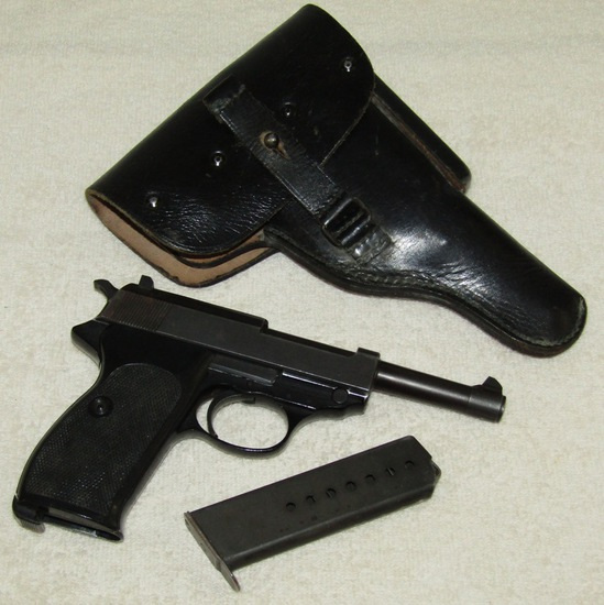 Post WW2 Walther Banner P38 Pistol With Holster-West Germany 11/60