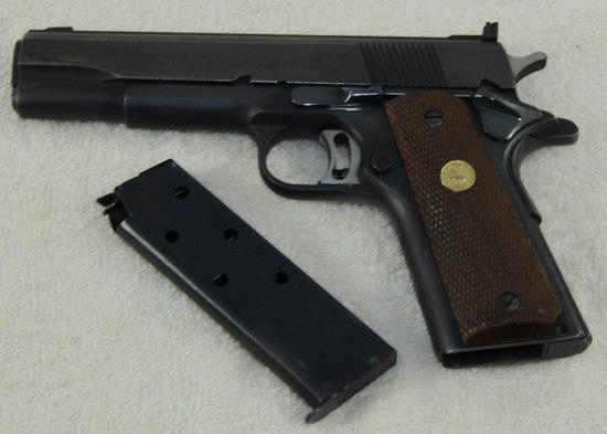 Colt .45 Cal. Semi Auto M1911 Pistol-National Match Model-Pre 1970
