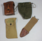 US WW1 Misc. Field Gear Lot. Named Diddy Bag, Bolo Scabbard Cover, 1919 Dated Pouch Etc.