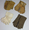 Lot of 4 Pairs of US WW2 Gloves.  Worn.