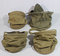 US WW2 Cavalry Canvas Water Bucket & Tray Lot. 5 Pieces.
