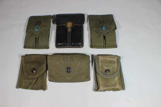 US Vietnam War & Earlier 1911 Magazine & 1st Aid Pouches.