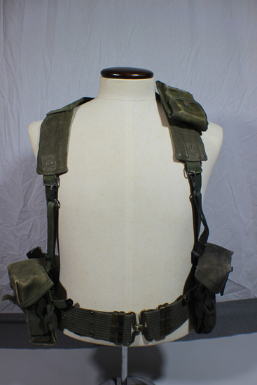 US Vietnam War Rifleman's Belt & Suspender Field Gear Rig.