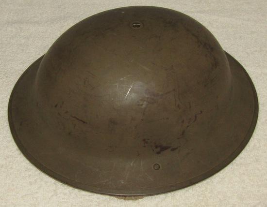 WW2 British Brodie North Africa Desert Camo Helmet. 1941. Nice Complete.