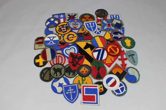 Lot of 50 US WW2 Cut Edge Snowy Back Patches