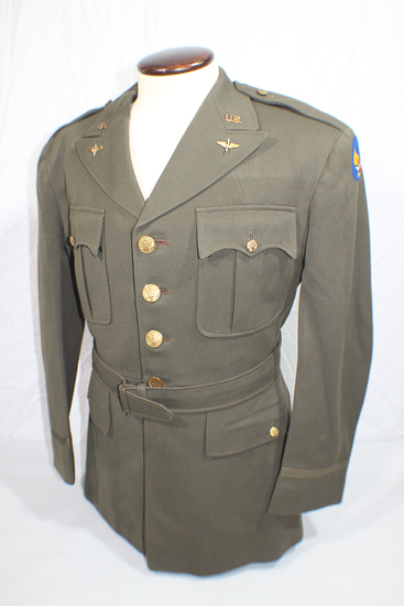 US WW2 Army Air Corps Tailor Made Named Officer's Class A Uniform Jacket.