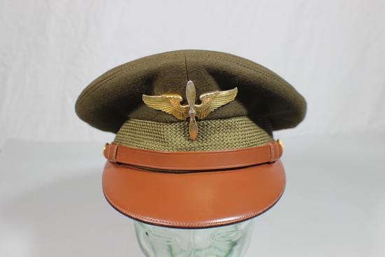 US WW2 Super Fine Crusher Style Knox Made Named Visor Hat Cap.