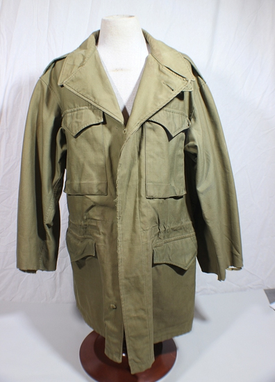US WW2 M43 Field Combat Jacket. War Time Production. Decent Condition. Missing Most Buttons.