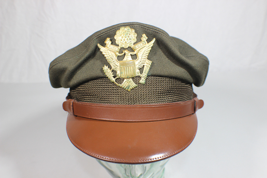"US WW2 Air Corps Crusher ""Style"" Visor Cap. Named. GORGEOUS!"