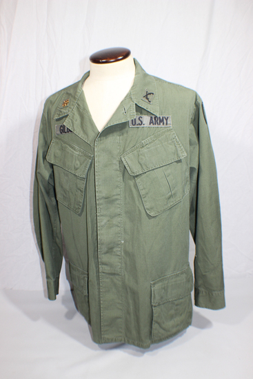 US Vietnam War Poplin Rip Stop Jungle Jacket. Named Military Police Officer.