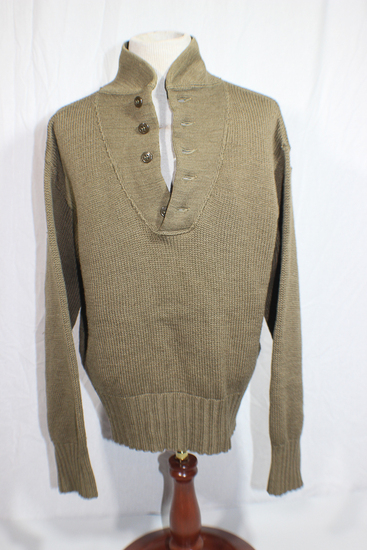 US WW2 Red Cross Wool Knit Army Sweater. Unmarked. Very Nice.