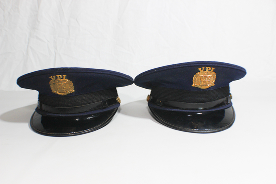 Lot of 2 US WW2 Era Virginia Polytechnic Institute VPI VMI Cadet Visor Caps
