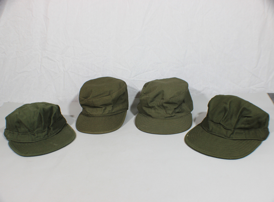 Lot of 4 US Korean War Era M51 Field Patrol Ranger Hat Caps.