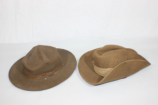 US WW2 & Australian WW2 Campaign Drill Instructor Hat & Wool Felt Slouch Hat