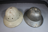 Lot of 2 US WW2 Sun Pith Helmets. District of Washington Civil Defense & Scarce White HAWLEY.
