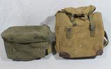 Lot of 2 US WW2 Field Radio Bags.