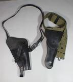 US Vietnam M1911 Pistol Holster Lot of 2. Shoulder & Belt.