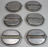 Lot of 6 US WW2 Mess Kits. All Empty. All Wartime Dated. No Contents.