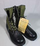 US Vietnam War Early Pair of Jungle Boots. 1966 Dated. Size 8 Extra Wide. Mint Condition.