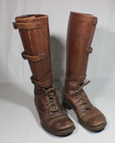 US WW2 M1940 Mounted Cavalry Boots. Worn Condition. 9 C?