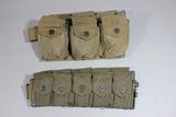 US WW2 Early 1942 Dated BAR Rifleman's Belt W/ 10 Pocket Rifleman's Belt