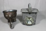 US WW2 Army Vehicle Light & Navy Lantern Flashlight.