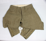 US WW1 Army Enlisted Riding Pants Jodphurs. Worn Condition.