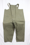US WW2 Navy Foul Weather Rubberized Deck Pants Overalls.