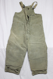 US WW2 USN Navy Foul Cold Weather Lined Deck Pants. W/ Button. Nice. Worn.