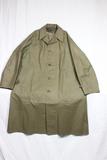 US WW2 Army Dismounted Rubberized Rain Coat. Worn.