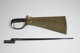 US WW2 Woodsman's Pal Survival Machete & WW2 Russian Mosin Nagant Bayonet.