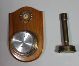 US WW2 40MM Trench Art Candlestick & Citadel Military Academy Thermometer