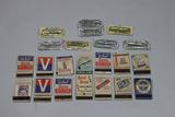 Lot of 13 ORIGINAL US WW2 War Bond Match Books & 8 Period Condoms.