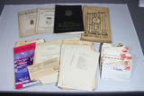 US WW2 Named Letter Correspondence Lot W/ Pamphlets, Books, & Magazines.