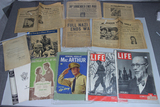US WW2 Newspaper & Magazine Lot. Life, MacArthur, Surrender, Etc.