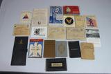 US WW2 Paper & Book Ephemera Lot. Great Decal. Nice Large Lot.