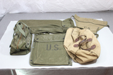US WW2 Field Gear Pouch & Bag Lot. Signals. Sewing. Nice Early Pieces