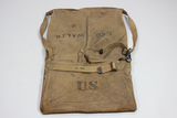 Rare Unknown US WW2 Canvas Bag Pouch. Signals Radio Gear? Complete W/ Strap. Named.