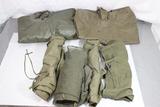 US Vietnam & Earlier Field Gear Lot. 2 Ponchos, 2 Waterproof Clothing Bags, Etc.