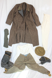 WW2 Russian Infantry Reenactor Clothing Set. Boots, Hats, Pants, Overcoat, Underclothes.