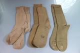 US WW2 Lot of 3 Pairs of Wool Uniform Socks. Marked. Very Light Wear.