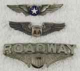 3pcs-Misc. 1940-50's Airline/Air Freight Wings/USAF Auxiliary