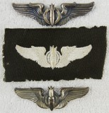 3pcs-WW2 Period US Army Air Forces Bombardier Wings