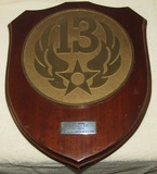 Rare Large Wood Plaque Named To 13th Army Air Forces Commander Major Gen. N.F. Twining