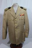 US WW2 USN Navy Officer's Khaki Dress Uniform Jacket. Theater Made Ribbon Bar. Named. Nice!