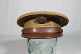 US WW2 Army Enlisted Khaki Visor Hat Cap. Unmarked. Pre War.