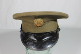US Post WW2 Army Enlisted Visor Hat Cap. 6 3/4 Black Bill.