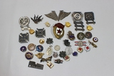 US WW2 & Foreign Pin & Insignia Lot. Some Sterling.