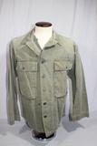 US WW2 HBT Herringbone Twill Combat Utility Jacket. 13 Star Metal Buttons.