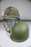 US Vietnam M1 Helmet Liner W/ Cigarettes & Rare 1969 Dated ERDL Pattern Cover & Spare Liner.